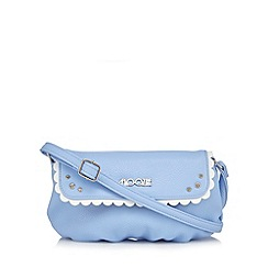 Floozie by Frost French - Light blue scalloped trim cross body bag
