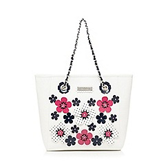 Floozie by Frost French - White applique flower tote bag
