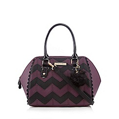 Floozie by Frost French - Purple chevron print winged tote bag