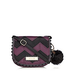 Floozie by Frost French - Purple chevron print cross body bag