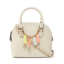 Call It Spring - Cream charm detail dome bag