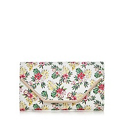 Call It Spring - Multi-coloured 'colonna' floral clutch bag