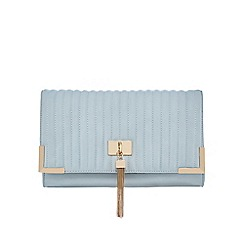 Call It Spring - Light blue 'Boc' quilted clutch bag