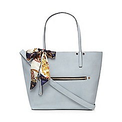 Call It Spring - Light blue 'Exit' shopper bag