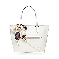 Call It Spring - White 'Exit' shopper bag