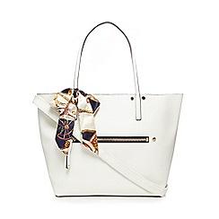 Call It Spring - White 'Exit' shopper bag