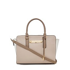 Call It Spring - Beige colour block grab bag