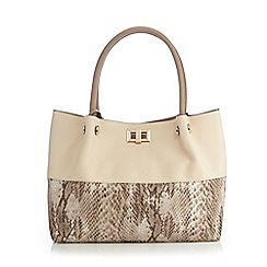 Call It Spring - Cream 'Street' shopper bag