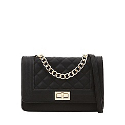 Call It Spring - Black quilted cross body bag