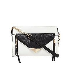Call It Spring - White colour block 'Crato' cross body bag