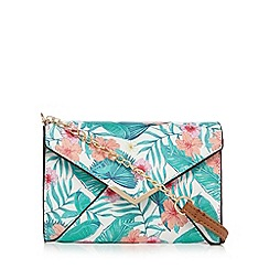 Call It Spring - Multi-coloured 'Pancake' floral print clutch bag
