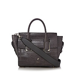 Fiorelli - Grey 'Hudson' croc-effect mini tote bag
