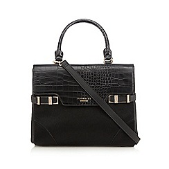 Fiorelli - Black croc-effect satchel bag