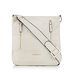 Kangol - Cream double zip cross body bag