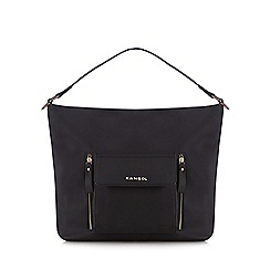 Kangol - Black front pocket shoulder bag