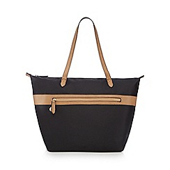 Kangol - Black zip detail large tote bag