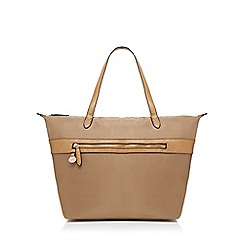 Kangol - Beige zip detail tote bag