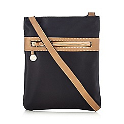 Kangol - Black double zip cross body bag