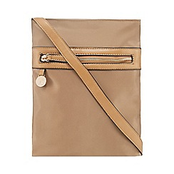 Kangol - Beige zip detail cross body bag