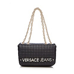 Versace Jeans - Black quilted cross body bag