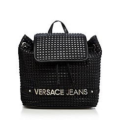 Versace Jeans - Black quilted backpack
