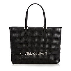 Versace Jeans - Black quilted shopper bag