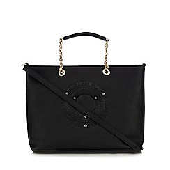 Versace Jeans - Black diamante embellished chain tote bag