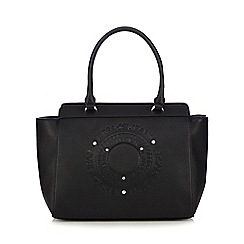 Versace Jeans - Black diamante embellished logo tote bag