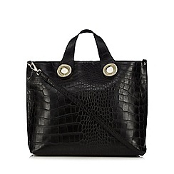Versace Jeans - Black mock croc tote bag