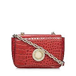 Versace Jeans - Red small croc-effect shoulder bag