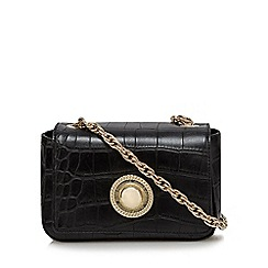 Versace Jeans - Black croc-effect small shoulder bag