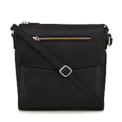 Clarks - Black leather cross body bag