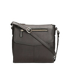 Clarks - Brown large leather cross body bag