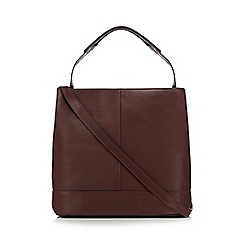 Clarks - Dark red 'Templeton Hope' shoulder bag