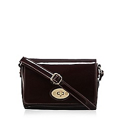 Clarks - Dark purple 'Maria Ann' cross body bag