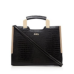 Faith - Black croc-effect tote bag