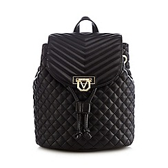 Valentino - Black quilted backpack