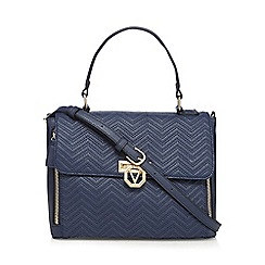 Valentino - Navy 'Mascai Cartella' satchel bag