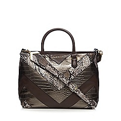 Valentino - Bronze 'Pitti' shopper bag