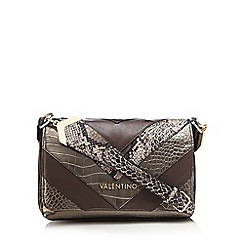 Valentino - Bronze 'Pritti Tracolla' block panel faux-leather cross-body bag