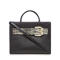 Cavalli Class - Black snakeskin-effect belt grab bag