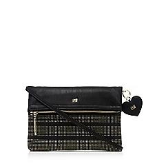 Cavalli Class - Black studded clutch bag