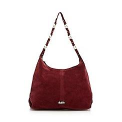 Faith - Dark red suede hobo bag