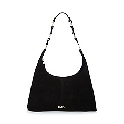 Faith - Black suede hobo bag