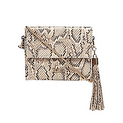 Faith - Multi-coloured snakeskin-effect boxed cross body bag