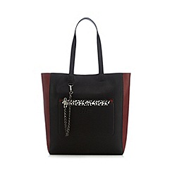 H! by Henry Holland - Dark red colour block shopper bag