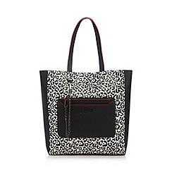 H! by Henry Holland - Black leopard print shopper bag