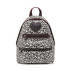 H! by Henry Holland - Black and white leopard print backpack