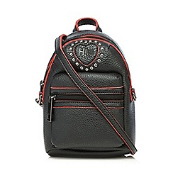 H! by Henry Holland - Black and red backpack cross body bag