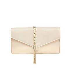 LYDC - Gold tasselled clutch bag